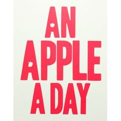 An Apple A Day Print - Red