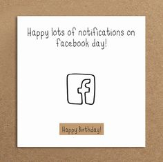 Handmade Funny Birthday Card Facebook by LeannejeanGraphics