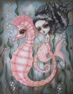 Marina and Bubbles by Lauren Saxton (Fair Rosamund Art).