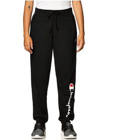 60% Polyester, 40% Cotton Imported Machine Wash Front pockets with ribbed detailing Ribbed waistband and cuffs Drawcord for adjustability Reduced shrink, Reduced pill Signature stripe locker loop inside waistband Joggers, Sweatpants, Script Logo, Trendy Clothes For Women, Powerful Women, Sneakers Fashion, Fashion Brands, Champion, Topshop