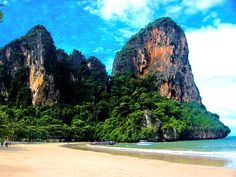 Railay Beach Guide Krabi Thailand Beaches Hotels Resorts : Beach Thailand. Love me some beaches with mountains...