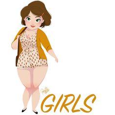 Anyone else excited about this years season of #Girls? Yay it's Monday!!! #lenadunham #girlsinanimation #fanart #hbo