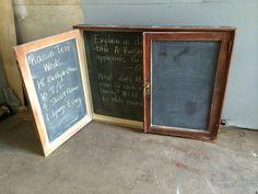 School Cabinet, Chalk Board from Black Dog Salvage