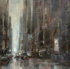 """""""Untitled"""", 12"""" x 12"""", BRYAN MARK TAYLOR. by Slusser Gallery Oil ~  x"""