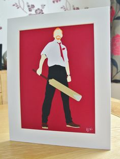 10x8 inch Shaun of the Dead Papercraft Art by reinventedcraftgeek, £15.00