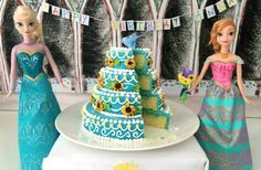 How to make a mini version of the Frozen Fever cake from the Disney frozen fever movie. With step by step video instructions