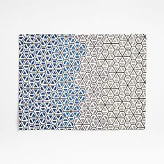 Clearance and Outlet: Rugs, Bedding and More | Crate and Barrel Linen Placemats, Geometric Flower, Custom Furniture, Table Linens, Crate And Barrel, Honeycomb, Crates, Print Patterns, Rugs