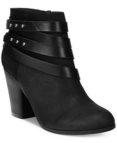 Material Girl Mini Strapped Booties, Only at Macy's - Booties - Shoes - Macy's