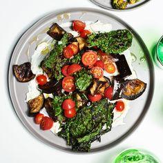 Roasted Eggplant and Crispy Kale with Yogurt - Bon Appétit
