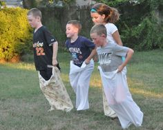 Old Fashioned Backyard Games. Potato sack racing and more! -Follow Driskotech on Pinterest!
