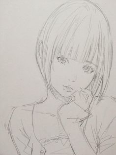 EISAKUSAKU : ショートヘアのデッサン。その4。 http://t.co/YrwN2JqaX3 | Twicsy - Twitter Picture Discovery