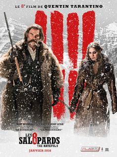 Les Huit salopards est un film de Quentin Tarantino avec Samuel L. Jackson, Kurt Russell. Synopsis : Quelques années après la Guerre de Sécession, le chasseur de primes John Ruth, dit Le Bourreau, fait route vers Red Rock, où il conduit sa prisonnière