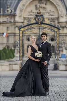 Paolo corona black wedding dresses for the alternative bride Halloween Wedding Dresses, Wedding Dresses For Girls, Modest Wedding, Bridal Gowns, Wedding Gowns, Civil Wedding, Wedding Venues, Alternative Bride, Gothic Wedding