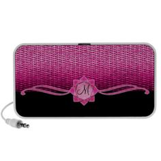 Rosette and Weave Pink Laptop Speaker