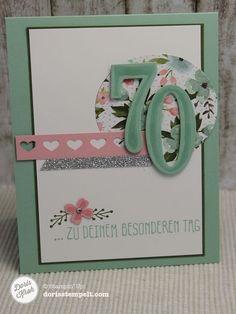 Geburtstagskarte zum 70. Geburtstag mit dem Stempelset So viele Jahre
