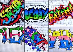8th Grade Name in Graffiti Style with example art and videos