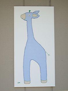 Large Giraffe #1 Fabric Wall Art by CottonwoodCove on Etsy