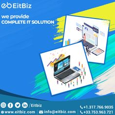 Stop worrying about your Web and App development. Let's work together! EitBiz is a leading Web, Mobile & Software Development Company with niche expertise and a focus on the latest technologies. Contact us at info@eitbiz.com #mobileapp #webdevelopment #webdesign #appdeveloper Application Development, Mobile Application, Software Development, Mobile Web Design, App Design, Custom Website Design, Ecommerce Solutions, Digital Marketing Services, Design Agency