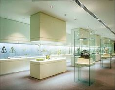 Many libraries use this brand of cases. Display case types | Glasbau Hahn