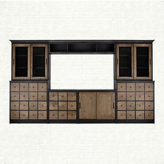 Shop for Freeman modular wall unit at Arhaus. Family Room Furniture, My Furniture, Bespoke Furniture, Modular Walls, Living Room Accents, French Farmhouse, New Homes, Movie Storage, Entertainment Units