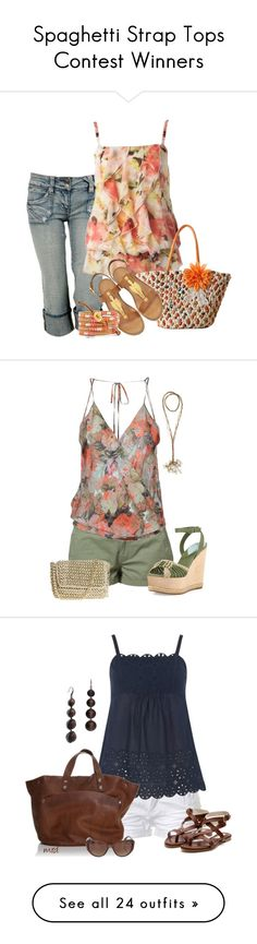 """Spaghetti Strap Tops Contest Winners"" by jayhawkmommy ❤ liked on Polyvore featuring Hydraulic, Valentino, O'Neill, Donna Karan, Haute Hippie, Stolen, Dorothy Perkins, Rupert Sanderson, MICHAEL Michael Kors and MaxMara"