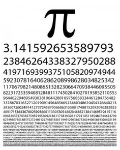 Instead of going to bed on time last night I made this printable pi poster for the classroom! This is just the first few digits, so you pro... Math School, School Tool, School Classroom, Suite De Fibonacci, Math Art, Fun Math, Maths, Pi Art, Math Stem