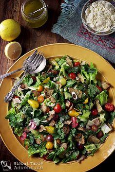 Fattoush, a Levantene Salad for Kahlil Gibran