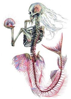 Skeletal mermaid. THIS IS MY FAVORITE ..so far!! xoxo