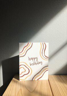 Happy Birthday Cards Handmade, Simple Birthday Cards, Birthday Cards For Friends, Bday Cards, Creative Birthday Cards, Birthday Card Drawing, Card Birthday, Birthday Ideas, Watercolor Birthday Cards