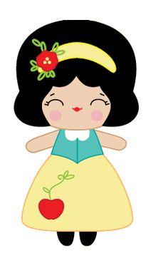 Boneca Branca de Neve série Princesas