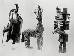 """Picasso's costumes for """"Parade"""" (1917) a theatre performance using text of Jean Cocteau / music of Erik Satie and the choreography of Léonide Massine."""