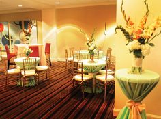 There's a beautiful glow about this banquet room at Metro 67! It's very inviting and the tables are quaint and romantic! Click the image for more information! Photo credit: Wedding Traditions