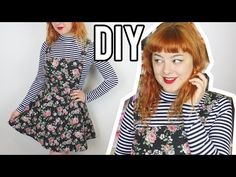 DIY Pinafore - With Adjustable Straps! | Make Thrift Buy #24 - YouTube