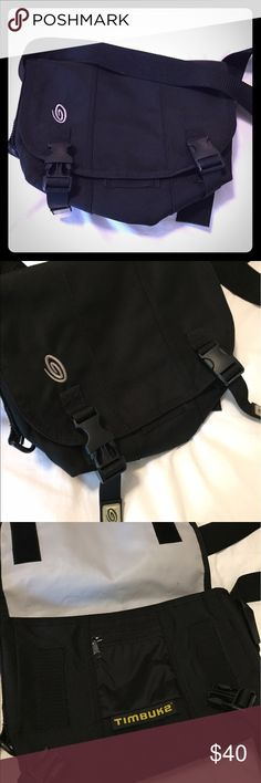 Timbuk2 Small Classic Messenger Bag (black) Timbuk2 Small Classic Messenger Bag. Known for its long-lasting durability and functional design, the Timbuk2 small urban messenger bag is very versatile. Exterior is black durable nylon and inner lining is waterproof. Features adjustable strap, and reflector tails that improve visibility in low light. Perfect for travel, commuting, outdoor activity, or diaper bag. Timbuk2 Bags Crossbody Bags