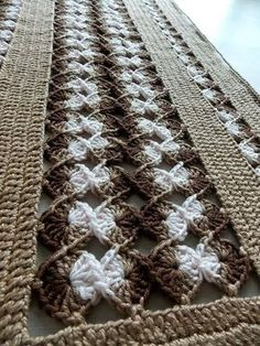 Crochet lace tape,, tape lace as table runner Crochet Table Runner, Crochet Tablecloth, Crochet Doilies, Baby Afghan Crochet Patterns, Crochet Baby, Knit Crochet, Lace Tape, Crocodile Stitch, Crochet Home Decor
