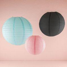 Round Paper Lanterns (Small, Medium Large, Multiple Colors)