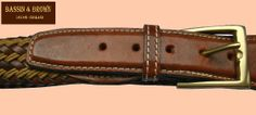 BASSIN & BROWN - WOVEN/LEATHER BELT - MADE IN ENGLAND. http://www.bassinandbrown.com/
