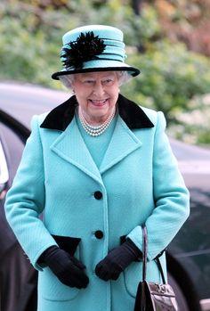 Queen Elizabeth, November 28, 2012 in Rachel Trevor Morgan