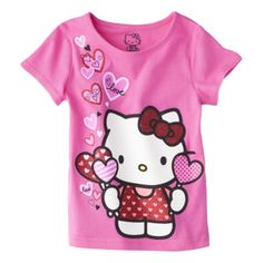 Hello Kitty Infant Toddler Girls' Tee - Dark Pink