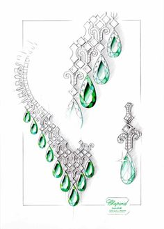 #Chopard #Drawings #Illustration #Craft #Art #Jewellery #Jewelry #Precious #Pencil #Artwork #Inspiration #Sketches #Design #Dessin #Bijoux