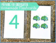 Preparing for Kindergarten: Homemade Flash Cards and other Tips from Teachers  www.TheSeasonedMom.com