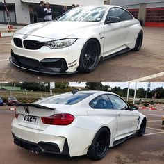 White BMW M4 Wide Body | The first full wide body Vorsteiner BMW M4 in South Africa has been ...