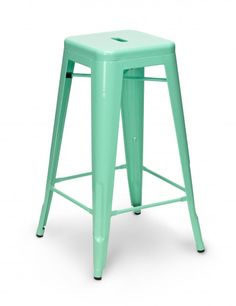 Jade green Tolix stools.  #fifthwallfriday #ceilume #ceiling #interior #design #diy #kitchen