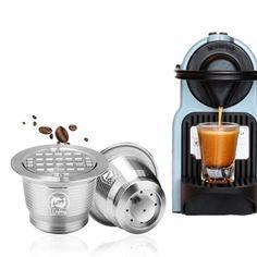Wiederverwendbare Kaffeekapseln Coffee Maker, Kitchen Appliances, All Stainless Steel, Stainless Steel, Food Grade, Tumblers, Coffee Maker Machine, Diy Kitchen Appliances, Coffee Percolator