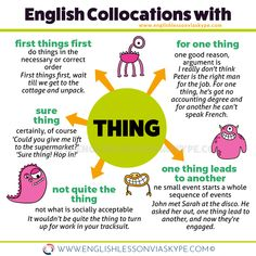 English collocations with THING that you can use in your day-to-day conversations. Intermediate level English vocabulary. Effortless English learning. #esl #อังกฤษ #английский  #英语 #영어 #ingles #vocabulary #englishteacher #englishlessons #learnenglish