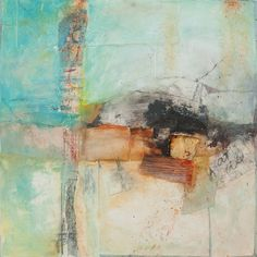 """Morning Song"" by Jennifer Perlmutter - mixed media on canvas"
