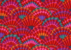 This wd make a nice whole cloth quilt (Kaffe Fassett fabric).
