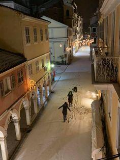 Places Around The World, Around The Worlds, Corfu Island, Corfu Greece, Travel Tips, Paradise, Snow, Winter, Winter Time