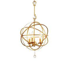 Ballard Designs Gold Orb Pendant Light
