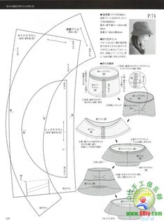 Info - Japanese Book And Handicrafts - Mrs Style Book - Diy Crafts - DIY & Crafts Hat Patterns To Sew, Knitting Patterns, Sewing Patterns, Sewing Tutorials, Sewing Projects, Sewing Crafts, Modelista, Leather Hats, Millinery Hats